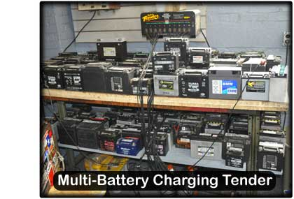 Cycle Tech battery charging station